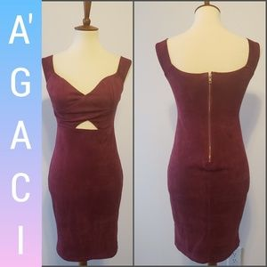 A'gaci sexy/tide/burgundy/mini/dress/size L